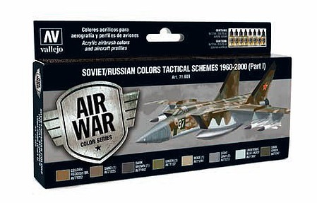 Vallejo Soviet/Russian Colors Tactical Schemes 1960-2000 Hobby and Model Acrylic Paint Set