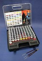 Vallejo Game Color Paint Set with Plastic Storage Case Hobby and Model Paints #72172