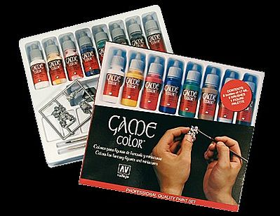 Vallejo Intro Game Color Paint Set 8 Colors Hobby And Model Paint