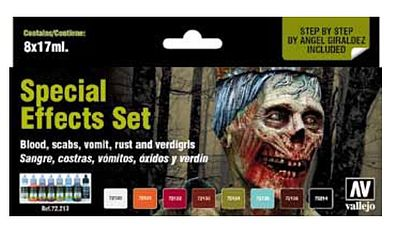 Vallejo Special Effects Game Color Paint Set (8 Colors) Hobby and Model Paint Set #72213