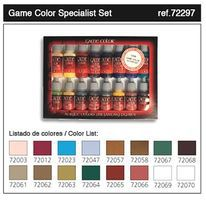 Vallejo Specialist Game Color Paint Set (16 Colors) Hobby and Model Paint Set #72297
