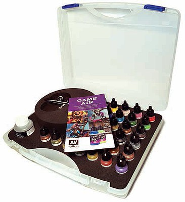 Vallejo Acrylic Paints Basic Game Air Set in Case 28p
