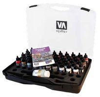 Vallejo Game Air Paint Set in Plastic Storage Case (60) Hobby and Model Paint Set #72872