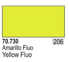 Vallejo 17ml Bottle Fluorescent Yellow Model Color (6/Bx)