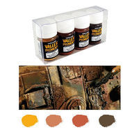 Vallejo Rust & Oil Pigment Powder Set (4 Colors) Hobby and Model Paint Set #73196
