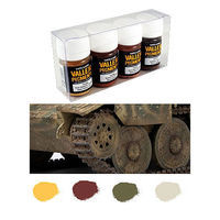 Vallejo Mud & Sand Pigment Powder Set (4 Colors) Hobby and Model Paint Set #73197