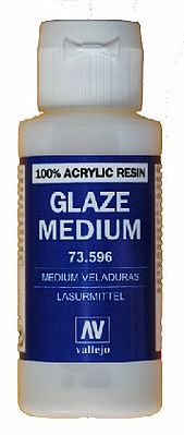 Vallejo Glaze Medium 60ml Bottle Hobby and Model Acrylic Paint #73596