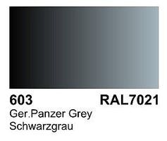 Vallejo German Panzer Grey RAL 7021 Primer 60ml Bottle Hobby and Model Acrylic Paint #73603