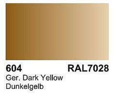 Vallejo German Dark Yellow RAL 7028 Primer 60ml Bottle Hobby and Model Acrylic Paint #73604