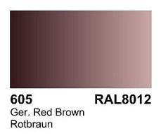 Vallejo German Red Brown RAL 8012 Primer 60ml Bottle Hobby and Model Acrylic Paint #73605