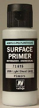 Vallejo Surface Primer USN Light Ghost Grey 60ml Bottle Hobby and Model Paint Supply #73615