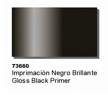 Vallejo Gloss Black Primer (60ml Bottle) Hobby and Model Acrylic Paint #73660