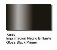 (bulk of 6) Gloss Black Primer (60ml Bottle) Hobby and Model Acrylic Paint #73660