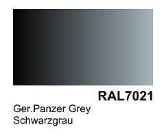Vallejo German Panzer Grey RAL 7021 Primer (200ml Bottle) Hobby and Model Acrylic Paint #74603