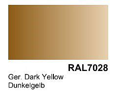Vallejo Acrylic Paints German Dark Yellow RAL 7028 Primer (200ml Bottle) -- Hobby and Model Acrylic Paint -- #74604