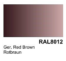 Vallejo German Red Brown RAL 8012 Primer (200ml Bottle) Hobby and Model Acrylic Paint #74605