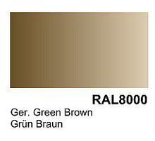 Vallejo German Green Brown RAL 8000 Primer (200ml Bottle) Hobby and Model Acrylic Paint #74606