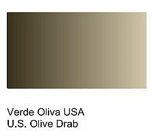 Vallejo UK Olive Drab Primer (200ml Bottle) Hobby and Model Acrylic Paint #74608