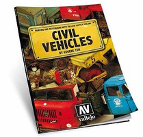 Vallejo Civil Vehicles Painting & Weathering w/Vallejo Acrylic Colors Book