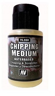 Vallejo Chipping Medium Water Based (35ml Bottle) Hobby and Model Acrylic Paint