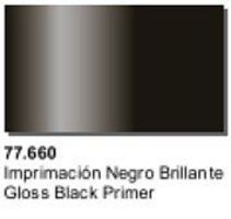 Vallejo Gloss Black Primer (32ml Bottle) Hobby and Model Acrylic Paint #77660
