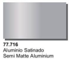 Vallejo Semi Matte Aluminum Metal Color (32ml Bottle) Hobby and Model Acrylic Paint #77716