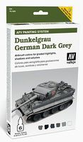 Vallejo AFV German Dark Grey Paint Set (6 Colors) Hobby and Model Paint Set #78400