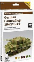 Vallejo German Camouflage 1943-44 AFV Paint Set (6 Colors) Hobby and Model Paint Set #78414