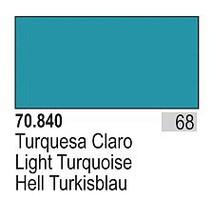 Vallejo 17ml Bottle Light Turquoise Model Color (6/Bx)