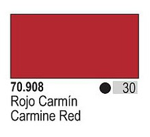 Vallejo (bulk of 6) 17ml Bottle Carmine Red Model Color (6/Bx)