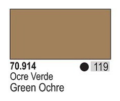 Vallejo 17ml Bottle Green Ochre Model Color (6/Bx)