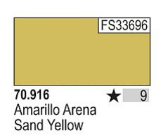 Vallejo 17ml Bottle Sand Yellow Model Color (6/Bx)