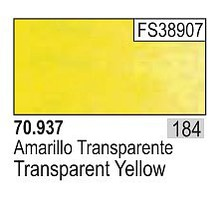 Vallejo 17ml Bottle Transparent Yellow Model Color (6/Bx)