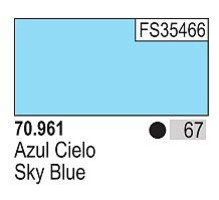 Vallejo 17ml Bottle Sky Blue Model Color (6/Bx)