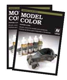 Vallejo Model Color & Panzer Aces Hand Painted Color Chart Hobby and Model Paint Supply #cc970