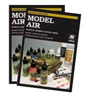Vallejo Model Air, Washes & Primers Hand Painted Color Chart Hobby and Model Paint Supply #cc971