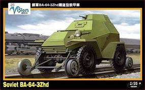 Vision Soviet BA64-3Zhd Light Recon Armored Car Plastic Model Military Vehicle Kit 1/35 #35004