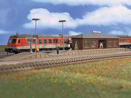 Vollmer Niederau Station w/Platform Kit HO Scale Model Railroad Trackside Accessory #3549