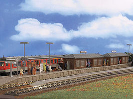 Vollmer Wiesental Station w/Platform Kit HO Scale Model Railroad Trackside Accessory #3550