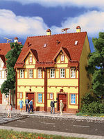 Vollmer Semi-Detached Yellow Stucco House Kit 2 Pack HO Scale Model Railroad Building #3844