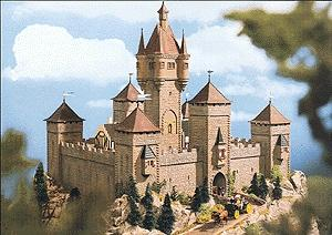 Vollmer Gmbh Castle -- 13-3/4 x 11-3/4'' 35 x 30cm - HO-Scale