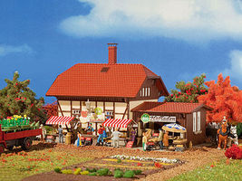 Vollmer Organic Farm Shop Kit HO Scale Model Railroad Building #3951