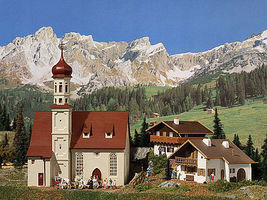 Vollmer Alpine Village 3 Building Set Kit HO Scale Model Railroad Building #42080