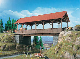 Vollmer Covered Bridge HO Scale Model Railroad Bridge #42515