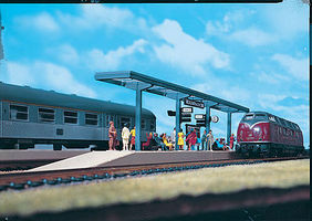 Vollmer Modern Platform Kit HO Scale Model Railroad Building #43537