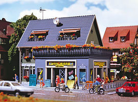 Vollmer Travel Agency Kit HO Scale Model Railroad Building #43616