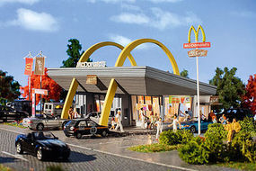 Vollmer McDonalds Restaurant w/McDrive Kit HO Scale Model Railroad Building #43634