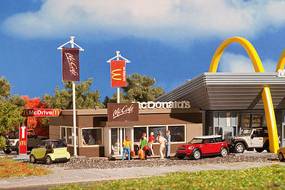 Vollmer McCafe (McDonalds Coffee House) Kit HO Scale Model Railroad Building #43636
