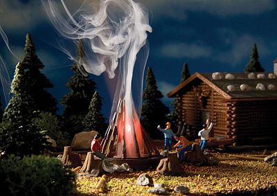 Vollmer Campfire w/Flickering Light Kit HO Scale Model Railroad Building Accessory #43667