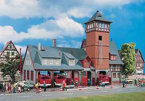 Vollmer Fire Station Kit HO Scale Model Railroad Building #43767